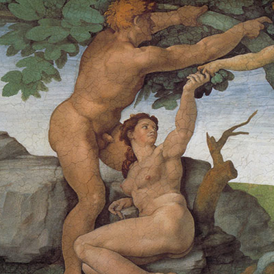 Adam and Eve by MichelangeloSQUARE