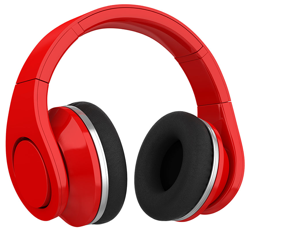 AdobeStock 189454402RED HEADPHONES
