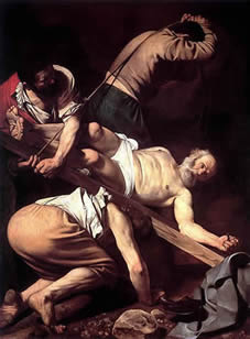 Caravaggio Crucifixion of Peter Wikicommons