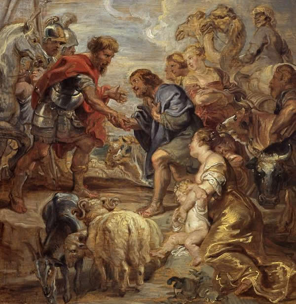 Rubens Jacob making peace with Esau
